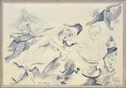 Sale 8339A - Lot 549 - Anne Hall (1945 - ) - Punch... 69.5 x 101cm (sheet size)