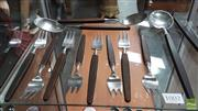 Sale 8395 - Lot 1002 - Lumdtofte Danish Flatwear Service for 8 incl. 2 Serving Spoons and 2 Salad Servers