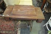 Sale 8431 - Lot 1063 - Vintage Sewing Machine over Treadle Base