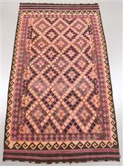 Sale 8445K - Lot 18 - Vintage Tribal Afghan Kilim Rug , 374x201cm, Soft and colour mature genuine vintage Afghan Kyber Mori kilim handwoven in the 1970s b...