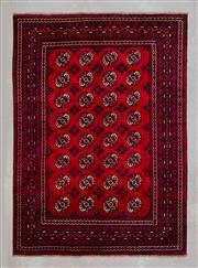 Sale 8480C - Lot 31 - Approx. 30 Year Old Vintage Afghan Turkman 300cm x 200cm