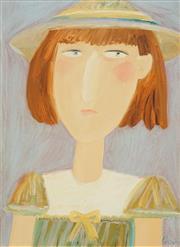 Sale 8504 - Lot 541 - Geoffrey Proud (1946 - ) - Untitled (Schoolgirl Series) 59.5 x 44cm