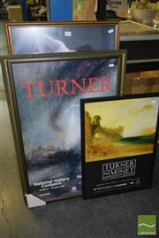 Sale 8509 - Lot 2073 - Collection of (4) Framed Gallery Exhibition Posters, various sizes