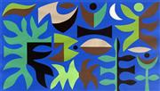 Sale 8544A - Lot 5015 - John Coburn (1925 - 2006) - Curtain of the Moon - Sydney Opera House 39.5 x 70cm