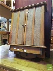 Sale 8545 - Lot 1099 - Small Timber Wall Cabinet