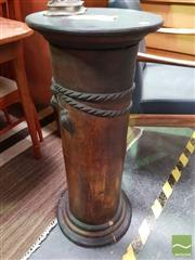 Sale 8554 - Lot 1055 - Antique French Terracotta Column in Faux Wood Finish
