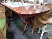Sale 8580 - Lot 1042 - Regency Twin Pedestal Dining Table (75 x 228 x 98.5cm)