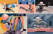 Sale 8655A - Lot 5002 - Charles Blackman (1928 - 2018) - Blackman Schoolgirls (Suite) 75 x 106cm, each