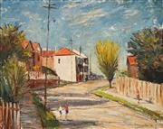 Sale 8675 - Lot 600 - John Frederick Marrington (1920 - 1994) - Sunday Morning Walk, North Sydney, 1966 39.5 x 49.5cm