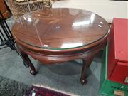 Sale 8676 - Lot 1143 - Cedar Coffee Table with Glass Top
