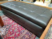 Sale 8688 - Lot 1041 - Long Modern Leather Ottoman
