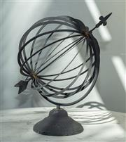 Sale 8745A - Lot 54 - An iron armillary sphere, H 45cm