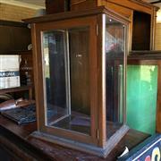 Sale 8795K - Lot 283 - A timber shop display case
