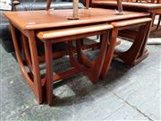 Sale 8930 - Lot 1036 - Teak Nest of Three Parker Tables