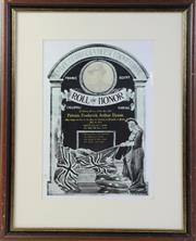 Sale 8994W - Lot 635 - Framed Roll Of Honour For PTE Arthur Dyson (61cm x 49cm)