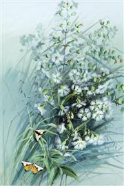 Sale 9067 - Lot 550 - Marian Ellis Rowan (1848 - 1922) - Caryophyllaceae Dianthus 49 x 32.5 cm (frame: 74 x 47 x 3 cm)