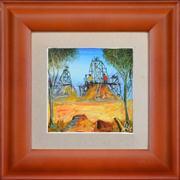 Sale 8316 - Lot 534 - Kevin Charles (Pro) Hart (1928 - 2006) - Mine Head 13.5 x 14cm