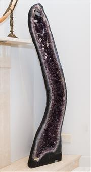 Sale 8338A - Lot 15 - A pair of tall amethyst cathedrals, H 123cm