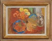 Sale 8459 - Lot 591 - Hans Ryggen (1894 - 1956) - Still Life, 1947 35.5 x 50.5cm