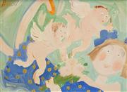 Sale 8504 - Lot 525 - Geoffrey Proud (1946 - ) - Untitled (Cherubs) 21.5 x 29.5cm