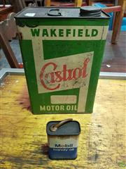 Sale 8607 - Lot 1076 - Early Castrol Petrol Tin and Mobil Oil Can