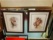 Sale 8663 - Lot 2114 - Lena Sotskova (2 Works) - Autumn Leaves; Under Umbrella I, framed limited edition prints, each signed lower right