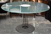 Sale 8769 - Lot 1013 - B & B Italia Rondo breakfast table, designed by Andreas Storiko, with round glass & steel wire base, top 130cm diameter