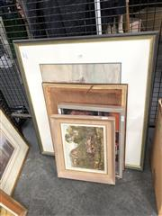 Sale 8819 - Lot 2118 - Group of Assorted Artworks incl. abstract painting, watercolours, etchings -