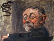 Sale 9021 - Lot 540 - James McBey (1883 - 1959) - Caricature, 1909 25.5 x 34.5 cm (frame: 35 x 43 x 3 cm)
