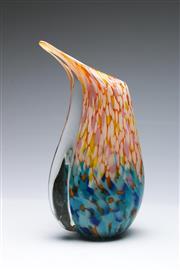Sale 9090 - Lot 54 - Large Spatter glass vase (H36cm) approx wt.4kg