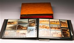 Sale 9114 - Lot 89 - Four albums of various postcards and photographs of world renowned buildings and locations