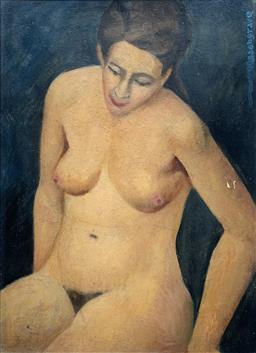 Sale 9142A - Lot 5037 - HARRY ROSENGRAVE (1899 - 1986) - Henderson (Bells School,1950) 54.5 x 39.5 cm (frame: 60.5 x 45.5 cm)