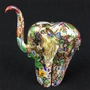 Sale 8402D - Lot 22 - Millefiori Art Glass Figure of an Elephant (Height - 12.7cm)