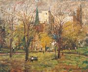 Sale 8504 - Lot 548 - George Feather Lawrence (1901 - 1981) - Hyde Park, 1958 50 x 60cm
