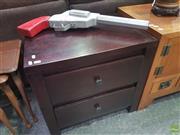 Sale 8620 - Lot 1030 - Modern 2 Drawer Bedside
