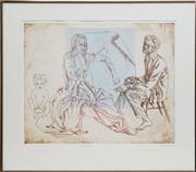 Sale 8720 - Lot 2036 - Louis Kahan (1905 - 2002) - Allegory, 1985 33 x 50cm