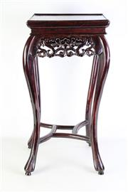 Sale 8913C - Lot 64 - Chinese Timber Jardiniere Stand on four feet (H61cm W30cm)