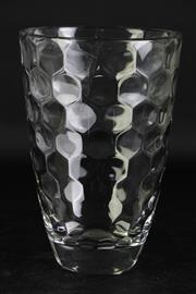 Sale 8985G - Lot 641 - Vintage Cubist Pattern Vase, Possibly Fostoria , H:24cm