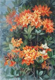 Sale 9067 - Lot 549 - Marian Ellis Rowan (1848 - 1922) - Flame Azalea 51.5 x 35.5 cm (frame: 73 x 57 x 3 cm)