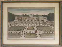 Sale 9142A - Lot 5038 - C18TH FRENCH ENGRAVING - Vue Perspective de la grote du chateau de Meudon, c1761 30 x 42 cm (frame: 41 x 54 cm)
