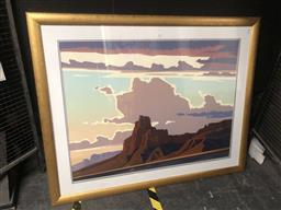 Sale 9152 - Lot 2033 - Ed Mell  Red Butte Screenprint, frame: 102 x 127 cm -