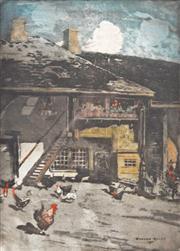 Sale 8675A - Lot 5027 - Richard Ranft (1862 - 1931) - The Farmyard, 1901 39 x 28.5cm