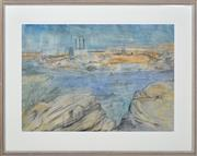 Sale 8358 - Lot 570 - Lloyd Rees (1895 - 1988) - Balmain (from Balls Head), 1965 40 x 57cm