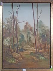 Sale 8604 - Lot 2045 - Norman Robins (1914 - 1988) - Bush Landscape oil on board, 68 x 53cm, signed lower right