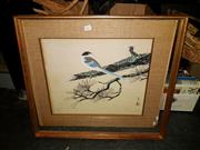 Sale 8671 - Lot 2087 - Chinese School - Bird, watercolour, 52 x 44cm, signed and inscribed lower left; frame a/f