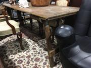 Sale 8795 - Lot 1030 - Vintage Timber Folding Trestle