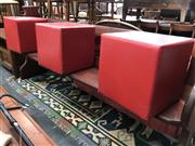 Sale 8817 - Lot 1025 - Set of 3 Square Ottomans