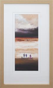 Sale 8858H - Lot 51 - Colin Parker (1941 - ) - Distant Red Sand 45 x 20cm