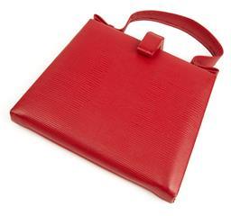 Sale 9091F - Lot 6 - A VINTAGE RED LIZARD SKIN PURSE H26cm