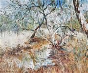 Sale 9067 - Lot 530 - Tessa Perceval (1947 - ) - Billabong, 1988 75 x 90 cm (frame: 88 x 103 x 6 cm)